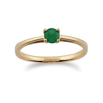 Gemondo 9ct Yellow Gold 0.29ct Single Stone Emerald Ring