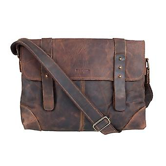Green country classic leather shoulder bag of Messenger 2520-25