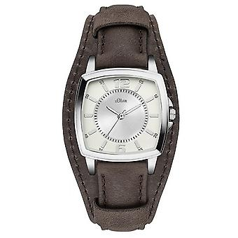 s.Oliver women's watch wristwatch leather SO-3167-LQ