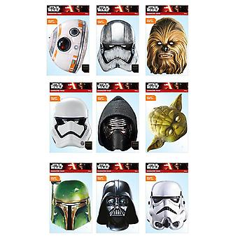 Star Wars Official 2D Card Party Face Masks Variety 9 Pack