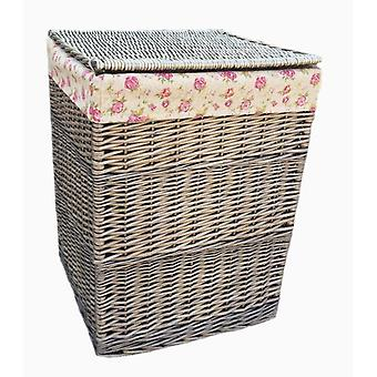 Large Square Laundry Basket With Garden Rose Lining