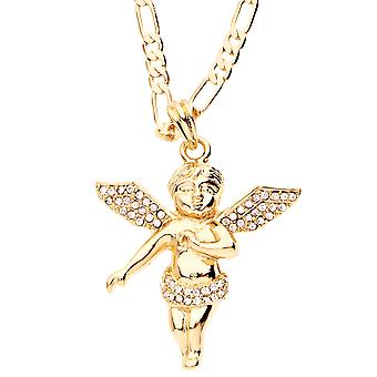 Iced Out Bling Fashion Kette - FLYING ANGEL gold