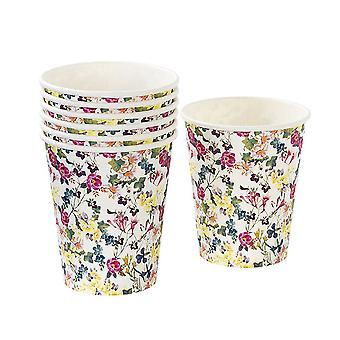 Talking Tables Truly Scrumptious Vintage Floral Paper Cups for a Tea Party or Birthday (12 Pack)