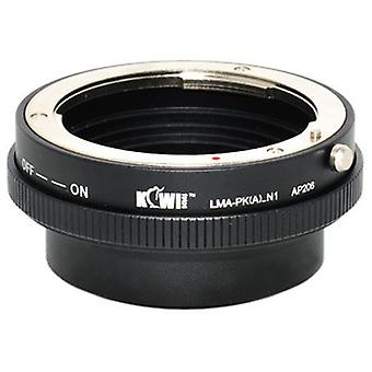 Kiwifotos Lens Mount Adapter with Aperture Control Ring: Allows Pentax K-Mount Bayonet Lenses to be used on any Nikon 1 Series mirrorless camera