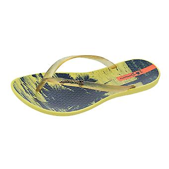 Ipanema Wave Tropical Womens Flip Flops / Sandals - Yellow