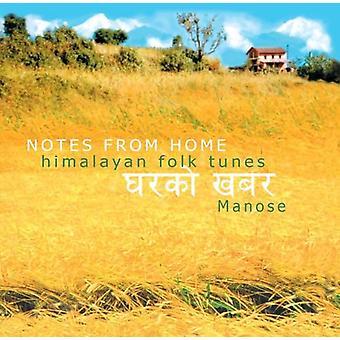 Manose - noter fra hjem-Himalaya Folk melodier [CD] USA import