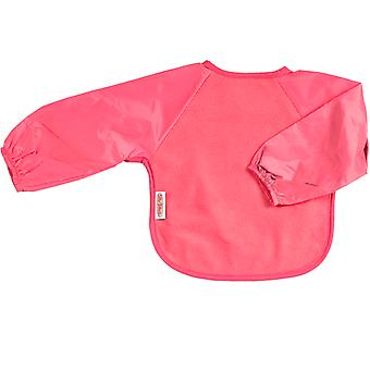Silly Billyz Large Long Sleeve Fleece Baby Feeding Bib in Cerise 1-3 Years