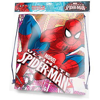 Kids Euroswan Gym Bag 41 Cm Spiderman (Toys , School Zone , Backpacks)