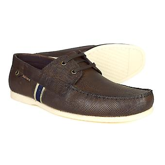 Red Tape Edward Mens Brown Leather Deck / Boat Shoes