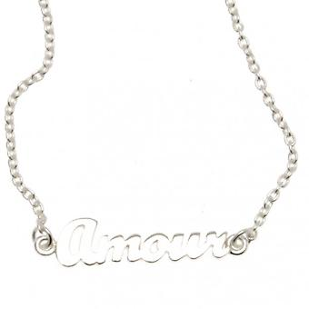 W.A.T Sterling Silver Chain Amour Necklace