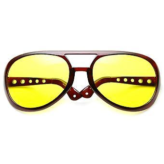 Extra grote overdreven Elvis kostuum Aviator zonnebril (6 inch)