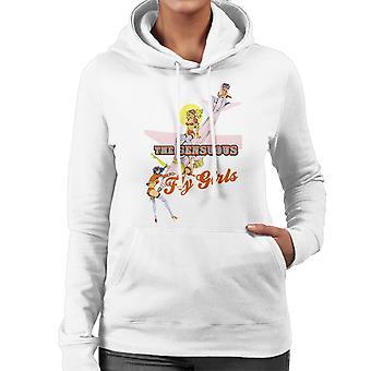 Die sinnliche Fly Girls Luft Stewardessen Damen Sweatshirt mit Kapuze