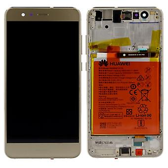 Huawei display LCD unit + frame for P10 Lite Service Pack 02351FSN gold
