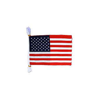 USA Flag Bunting drapeaux rectangulaires