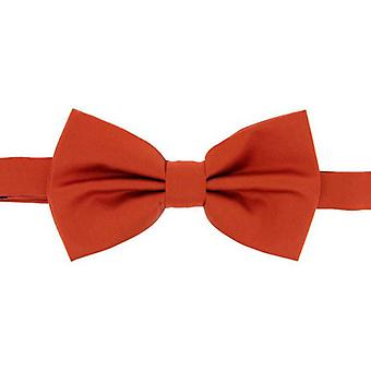 David Van Hagen Plain Satin Silk Bow Tie - Burnt Orange