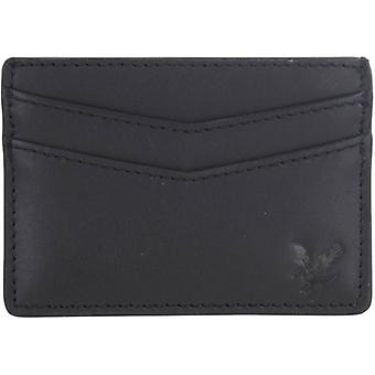Lyle and Scott Leather Card Holder - True Black