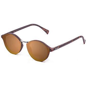 Ocean Loiret Flat Lense Sunglasses - Gold/Brown