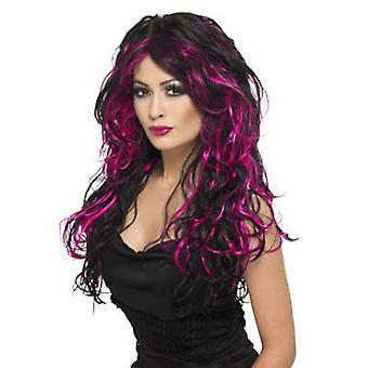 Smiffys Gothic Bride Wig Purple & Black Long Streaked (Costumes)