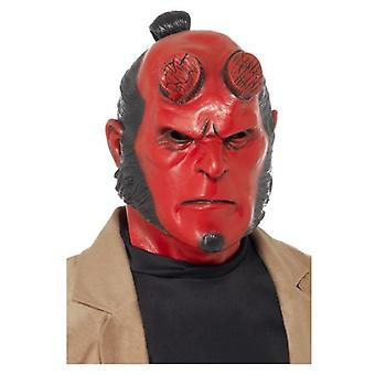 Smiffys Hellboy Latex Mask Red Full Overhead (Costumes)