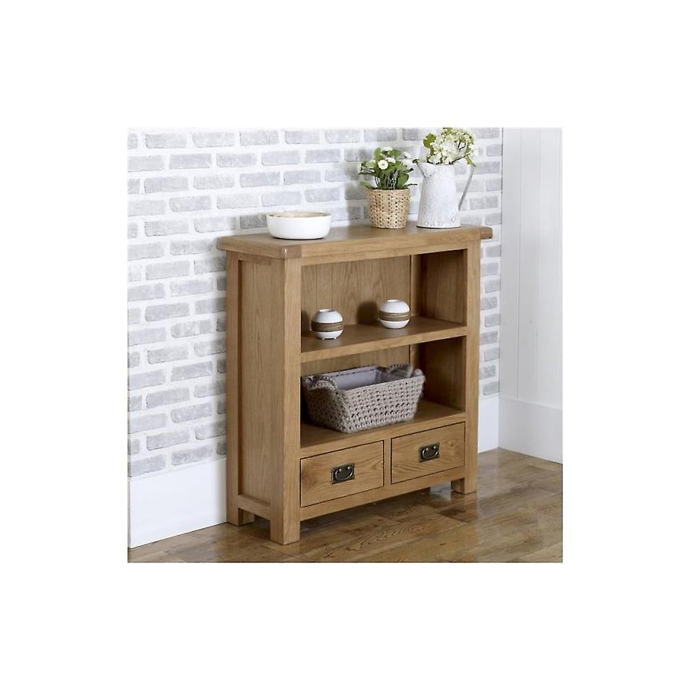 Birlea Malvern 2 Drawer Small Bookcase Oak