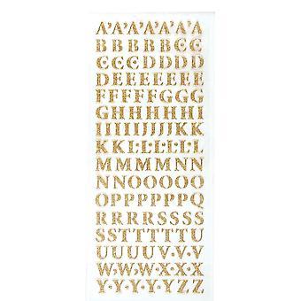 Xcut Glitterations maiuscolo alfabeto oro