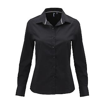 Premier Womens/Ladies Long Sleeve Fitted Friday Shirt