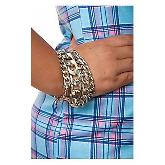 The Fashion Bible Silver Overload Arm Candy Bracelet