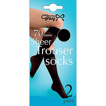 Joanna Gray Womens/Ladies 70 Denier Trouser Socks (2 Pairs)