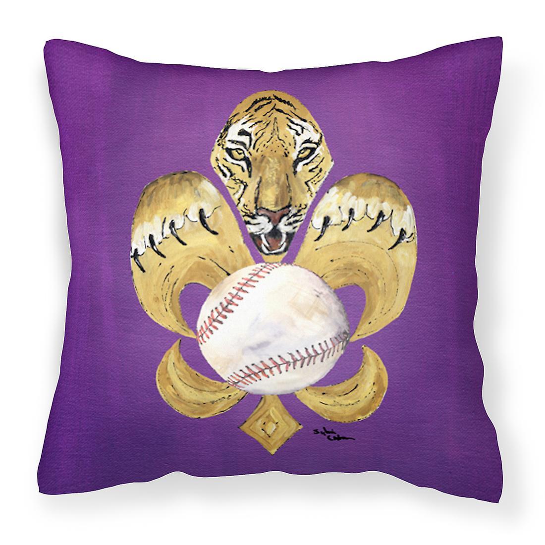 Lys Tissu Oreiller Décoratif Tigre De Fleur Baseball QdtsrxhCB
