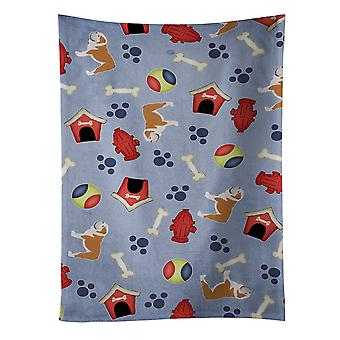 English Bulldog Dog House Collection Kitchen Towel