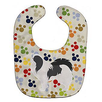 Carolines schatten BB6342BIB Japanse Chin Pawprints Baby slabbetje