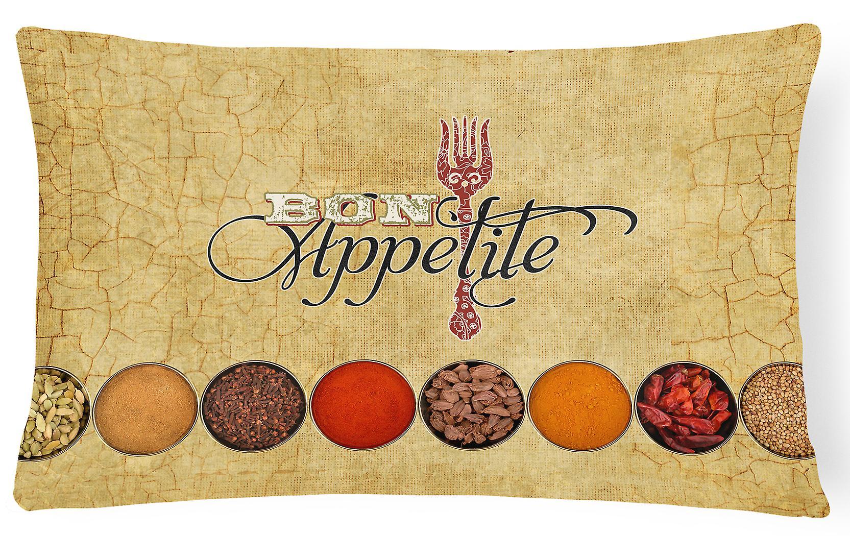 Appétit Tissu Décoratif Bon Toile Épices Oreiller Et m8wN0Ovn