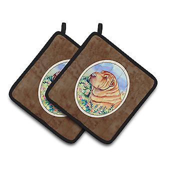 Carolines Treasures  7271PTHD Shar Pei Pair of Pot Holders