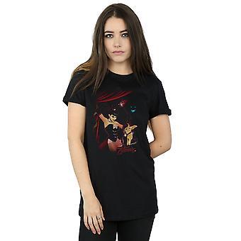 DC Comics Women's Zatanna Bombshell Cover Boyfriend Fit T-Shirt