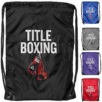 Title Boxing Sack Pack Lightweight Nylon Double-Drawstring Bag
