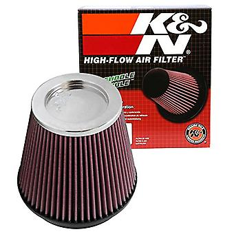 K&N RF-1037 Universal Clamp-On Air Filter: Round Tapered; 5 in (127 mm) Flange ID; 6.5 in (165 mm) Height; 6.5 in (165 m