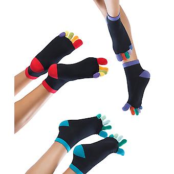 Knitido Rainbows | Short toe socks with colored toes