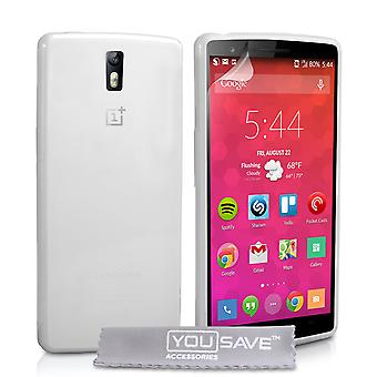 Yousave Accessories Oneplus Two Silicone Gel Case - Clear