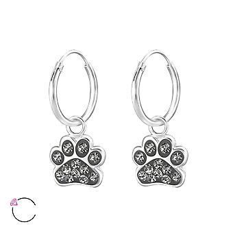 Paw Print crystal from Swarovski® - 925 Sterling Silver Children's Jewellery