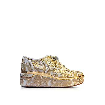 Tory Burch women's 39656127 gold fabric of sneakers