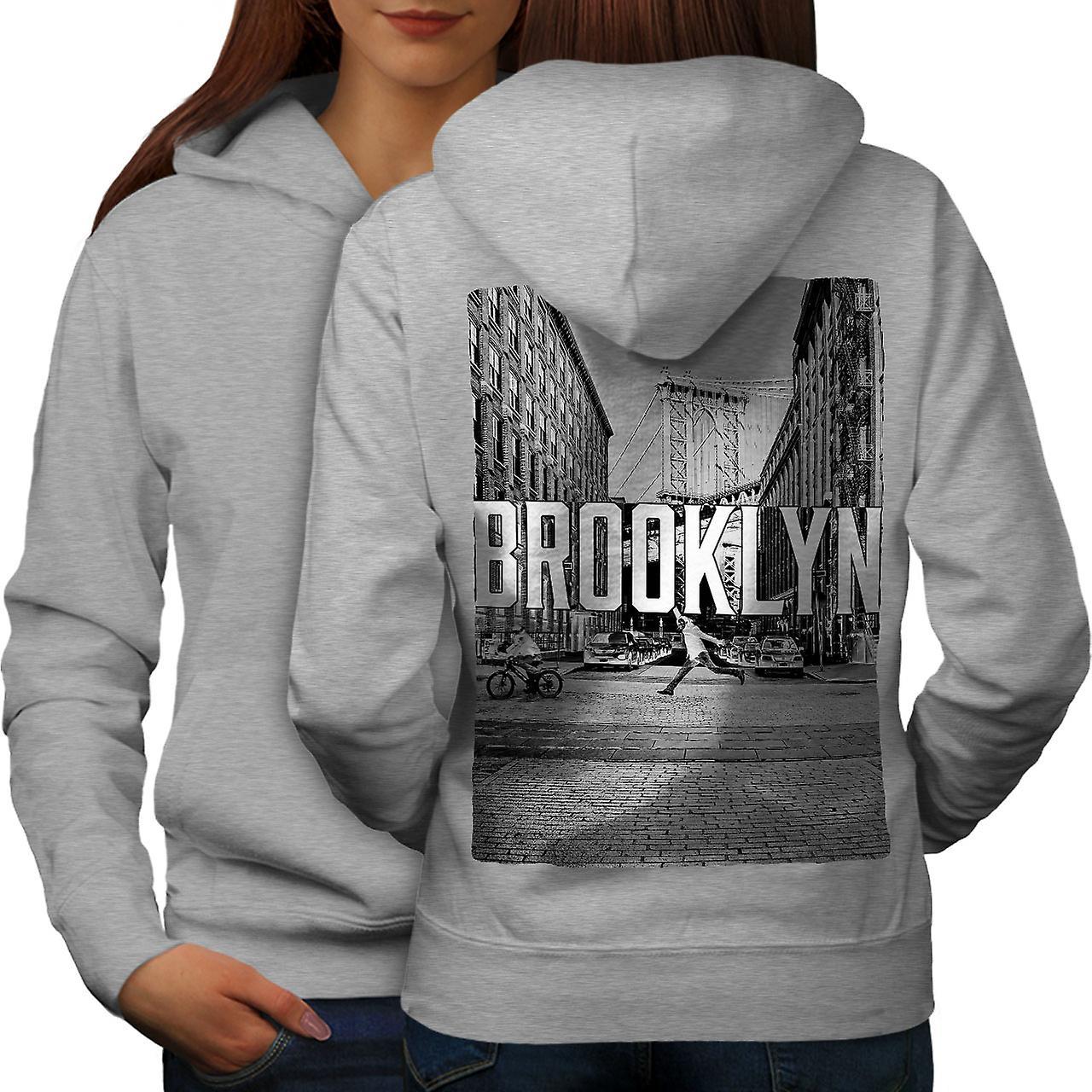 Brooklyn rues Citadines grisHoodie dos
