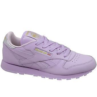 Reebok klasyczne skórzane metaliczny BD5543 universal cały rok dzieci buty