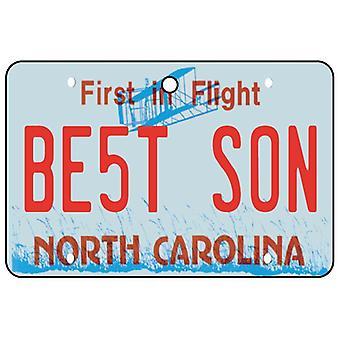 North Carolina - Best Son License Plate Car Air Freshener