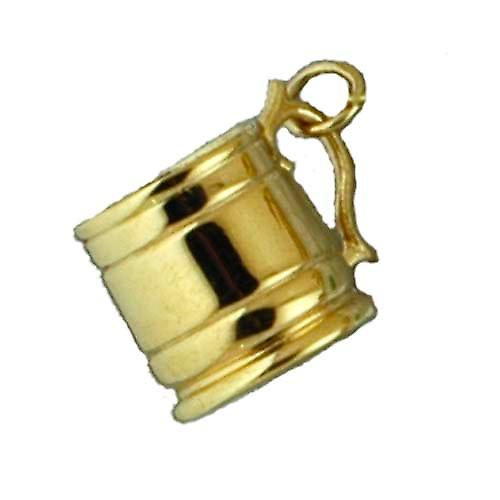 9ct Gold 15x20mm Tankard Pendant or Charm