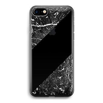 iPhone 7 transparentes Gehäuse (Soft) - schwarzem Marmor