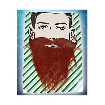 Skägg och mustascher brun viking skägg och mustasch