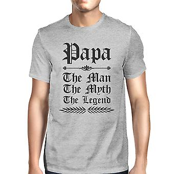 Vintage Gothic Papa Mens Grey Mythic Best Dad T-Shirt For Gifts Idea