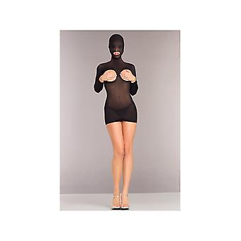 Be Wicked BWB9102 Opaque Cupless Hooded Minidress
