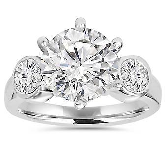 4,00 CT Diamant Verlobungsring 14K White Gold
