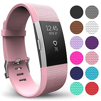 Yousave Fitbit Charge 2 Strap singel (liten) rodna rosa
